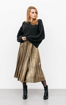 Skirt Loeka - Shiny, pleated skirt
