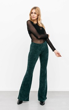Trousers Vienna - Mid-waist, flared trousers