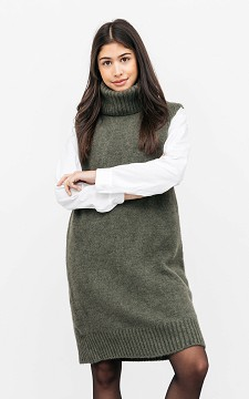 Dress Samantha - Sleeveless, turtleneck dress