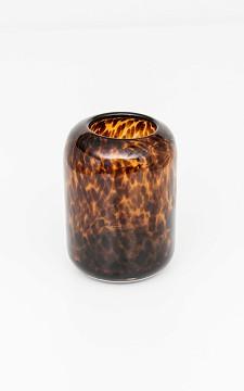 Vaas Leon - Glazen vaas met panterprint