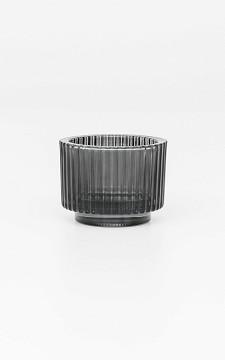 Waxinelichthouder Wilke - Waxinelichthouder met geribbeld glas