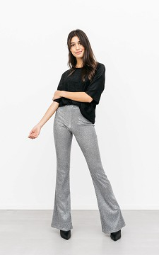 Trousers Ellis - Glittery, flared trousers