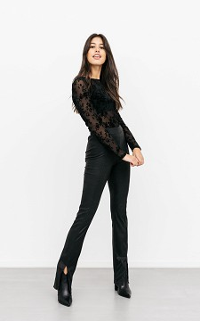 Trousers Rikkie - Flared trousers with splits