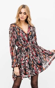 Dress Pieter - Wrap-around look, patterned dress