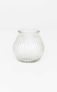Vase Rico - Ribbed glass vase