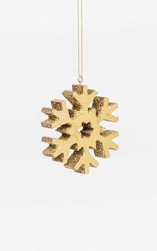 Christmas Decoration Snow - Gold coloured snowflake