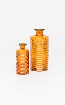 Vase Zoe - Ribbed glass vase