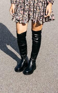 Stiefelette Leonie - Overknee-Stiefel im Leder-Look
