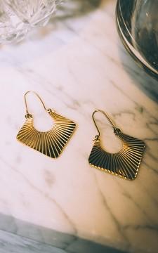 Oorbellen Josefien - Goudkleurige oorbellen van stainless steel