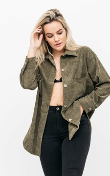 Blouse Irma - Corduroy blouse met knopen