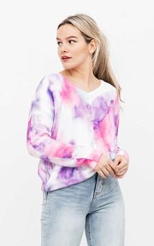 Pullover Marie - Batikpullover mit V-Ausschnitt