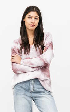 Sweater Marie - Patterned V-neck sweater