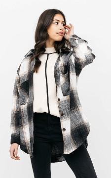 Blouse Sofia - Oversized geblokte blouse