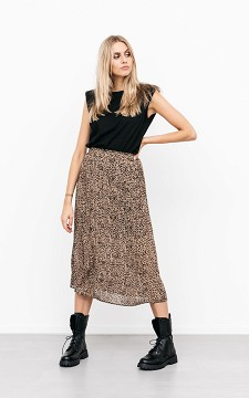 Skirt Kyara - Plissé leopard print skirt