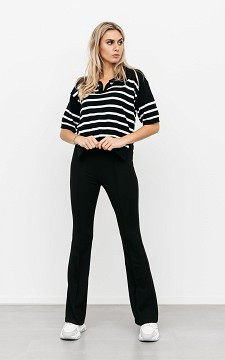 Trousers Puck - High-waist, flared trousers