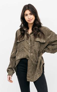 Blouse Carlotte - Corduroy blouse met borstzakken