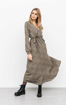 Dress Sorene - Patterned, V-neck dress