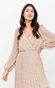 Kleid Gijsje - Plisseekleid mit Tupfenmuster