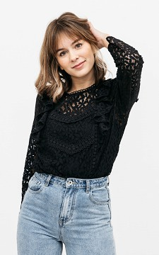 Top Dyonne - Lace, long sleeve top