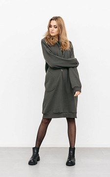 Dress Romee - Sweater-dress with a hood
