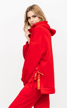Sweater Nicole - Sweater met satijnen strikdetails