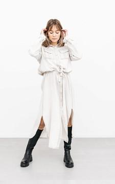 Kleid Dilara - Lässiges Baumwollkleid mit Bindegürtel