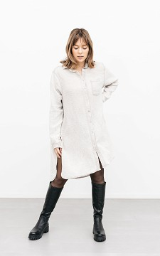 Blouse Erin - Oversized blouse with a chest pocket