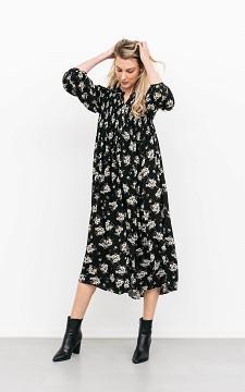 Jurk Sander - Maxi jurk met gesmokte details