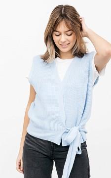 Vest Kim - Mouwloos vest met strikdetail