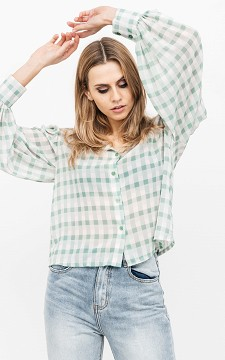 Blouse Jaimie - Checkered blouse with buttons