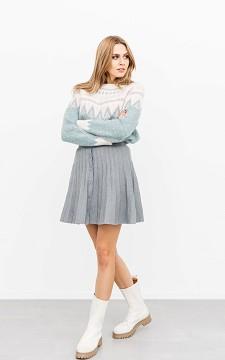 Skirt Tessa - A-symmetrical skirt with buttons