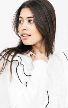 Sweater Lenneke - Sweater with ruffles