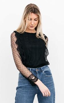 Top Elleke - Lace top with see-through sleeves