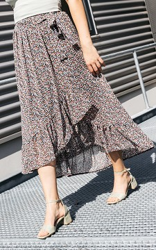 Skirt Olga - Floral, wrap-around skirt