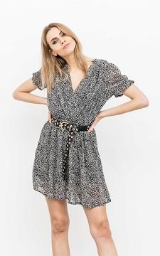 Jurk Kyo - V-hals jurk met print