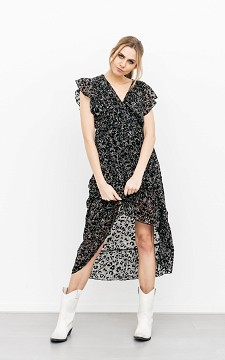 Kleid Inze - Asymmetrisches Kleid im Leo-Look