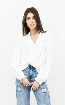 Blouse Anneroos - V-hals blouse met ruches