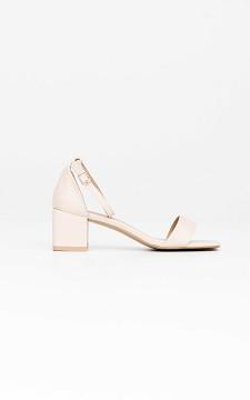 Heels Danique - Open heels with square noses