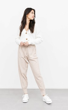 Sweatpants Dachel - Jogging bottoms with patterned sides