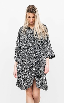 Dress Lowen - Patterned dress with buttons