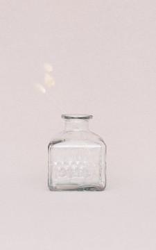 Vase Glenn - Square, clear glass vase