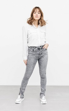 Jeans Rudy - High-waist jeans with splits