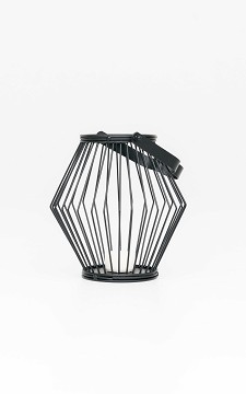 Lantern Zoe - Black lantarn with a handle