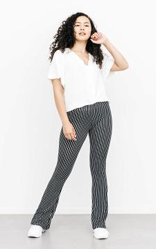 Trousers Olleke - Striped & flared trousers