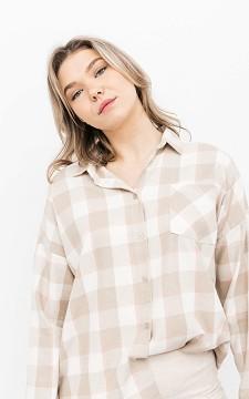 Blouse Bryce - Geblokte blouse met borstzakje
