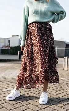 Rok Aniek - Overslag rok met bloemenprint