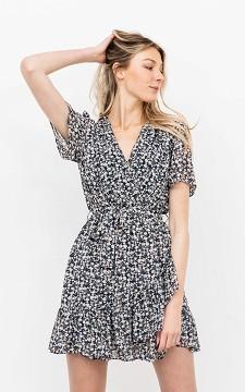Dress Owen - Patterned, V-neck dress
