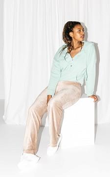 Broek Carrie - Flared broek met een split