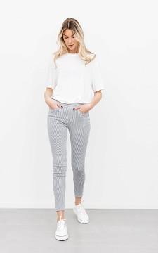Jeans Annemarie - Gestreifte Skinny Jeans