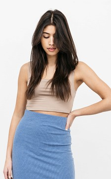 Top Sandy - Cropped top with square neckline